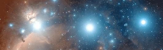 """As """"Três Marias"""" da constelação do Orionte (ESO)."""