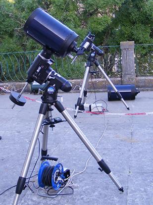 Telescópios usados nas observações astronómicas.