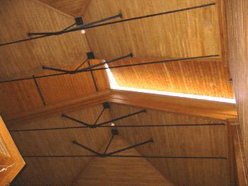 Portadas para visão do céu na Sala do Círculo Meridiano do OAL.
