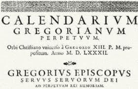 Bula Papal do Calendário Gregoriano
