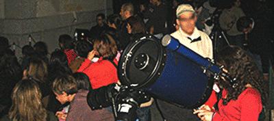 Noite pública de observação astronómica no OAL.