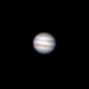 Júpiter com as bandas equatoriais, observado com estes telescópios na FCUL.